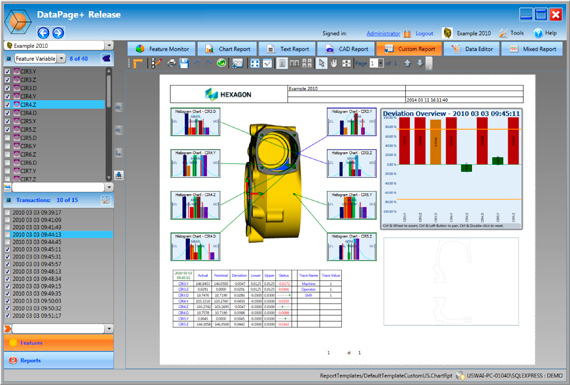Hexagon Metrology presenta el software DataPage+ 5.0