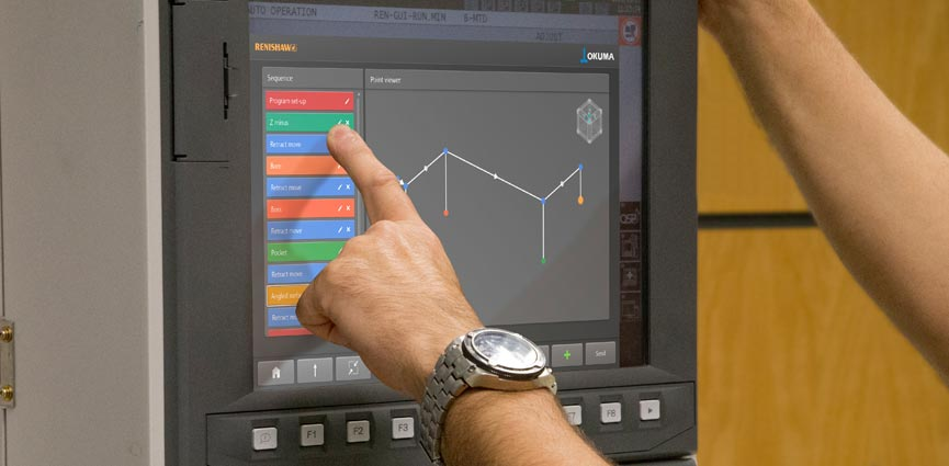 Set and Inspect en modo Program builder en un control OKUMA