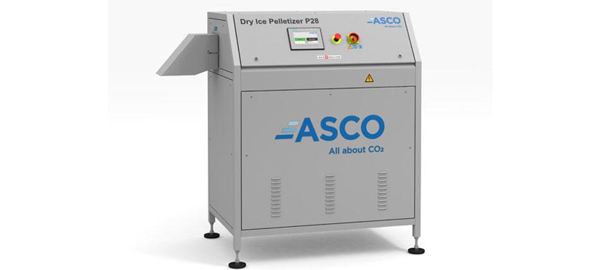Lanzamiento de la granuladora de hielo seco ASCO P28