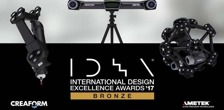 Creaform obtiene el prestigioso premio IDEA 2017