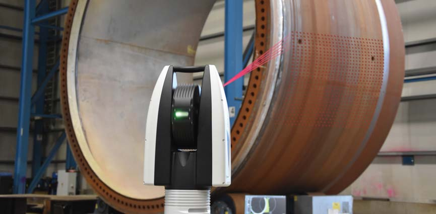 3D de gran alcance con el primer Scanning Láser Tracker
