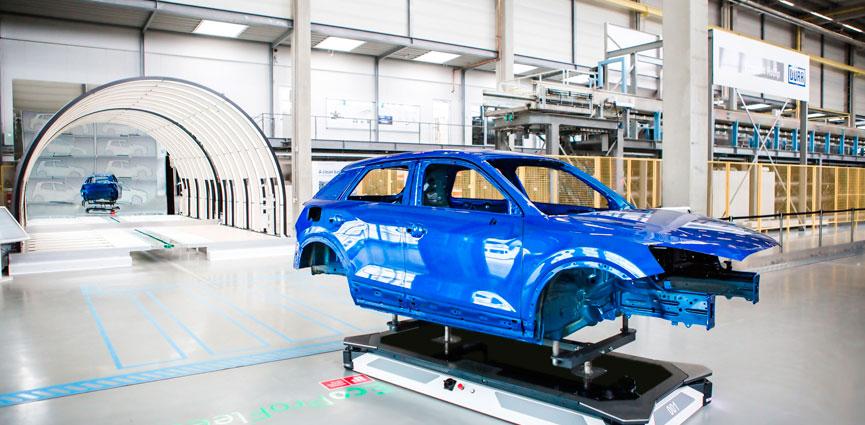 Dürr presenta EcoProFleet como el primer AGV para las plantas de pintura del futuro