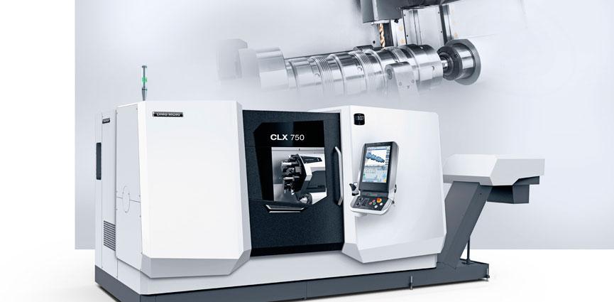 Arranque pesado de viruta de piezas de hasta 600 kg en 8.9 m². DMG MORI CLX 750