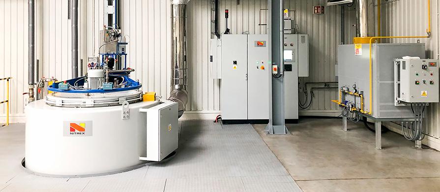 FA Krosno fabricante europeo de muelles a gas instala un sistema de nitración nitrex
