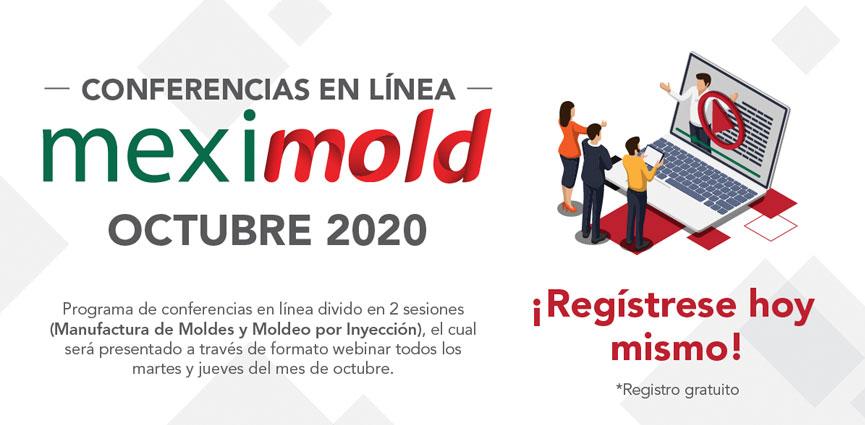 En octubre, Meximold ofrece conferencias en línea sobre manufactura de moldes y moldeo por inyección
