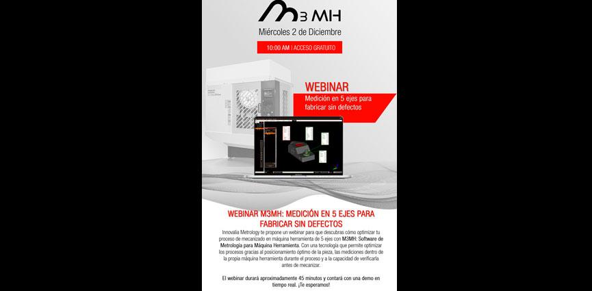 WEBINAR M3MH Medición en centros de mecanizado de 5 ejes