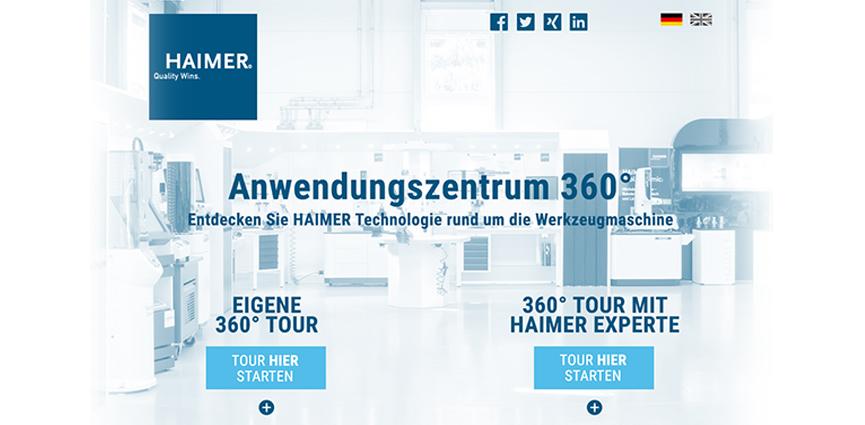 La experiencia de visita virtual en el Centro de Aplicación HAIMER 360°