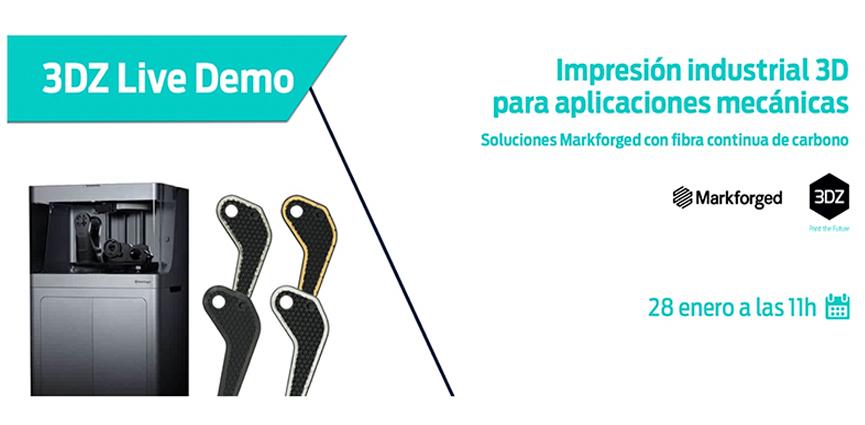 3DZ. Live Demo con testimonio de cliente final: Impresión industrial 3D para aplicaciones mecánicas