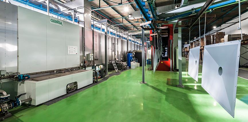 GEINSA suministra una instalación para pintado de piezas de acero al fabricante AAF INTERNATIONAL