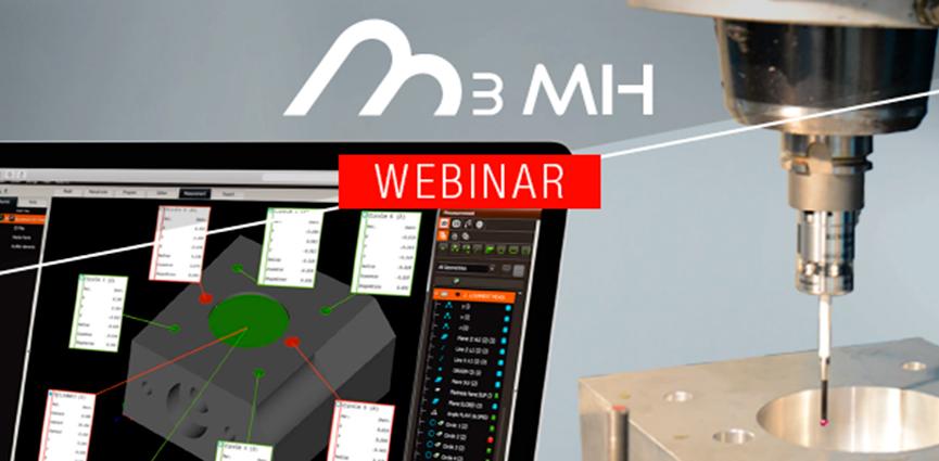 Innovalia Metrology sigue apostando por la medición en máquina herramienta con una serie de webinars sobre M3MH y sus funcionalidades