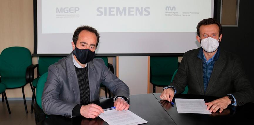 Siemens y la Escuela Politécnica Superior de Mondragon firman un convenio para cooperar en Automatización y Digitalización industrial