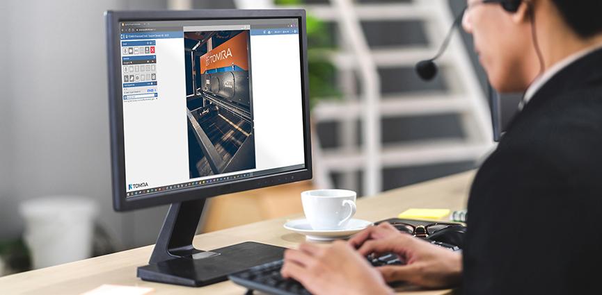 TOMRA Sorting Recycling lanza Care Visual Assist, una nueva herramienta de asistencia remota para maximizar el tiempo de actividad de sus máquinas