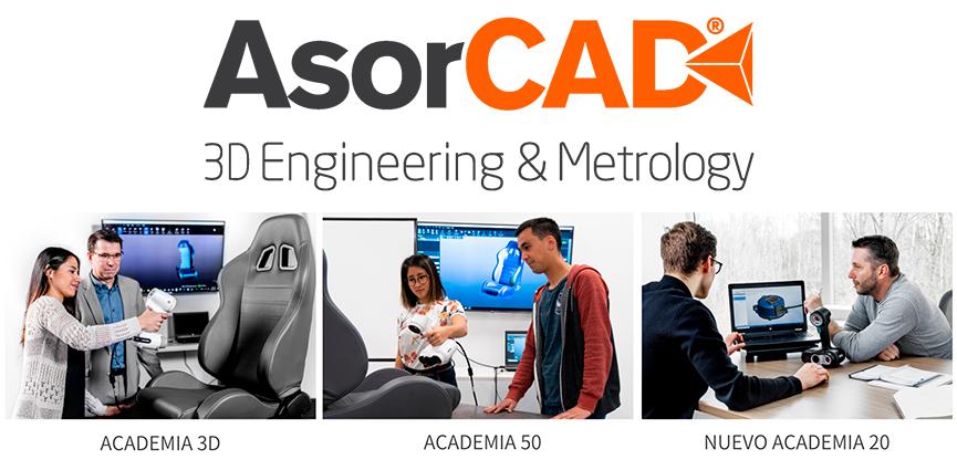 AsorCAD presenta el escáner 3D ACADEMIA 20