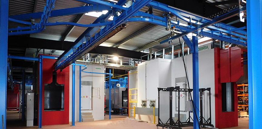 GEINSA suministra una línea de pintura al fabricante francés de maquinaria vitivinícola FERRAND
