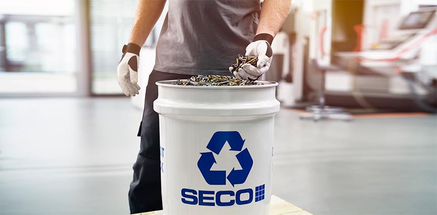 El reciclaje es una parte fundamental del ambicioso objetivo de Seco Tools: implementar una economía circular
