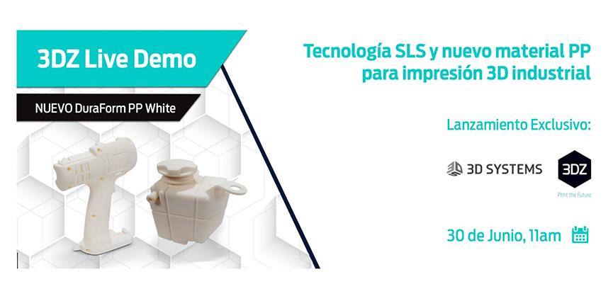 3D SYSTEMS. Tecnología SLS y nuevo material PP para impresión 3D industrial