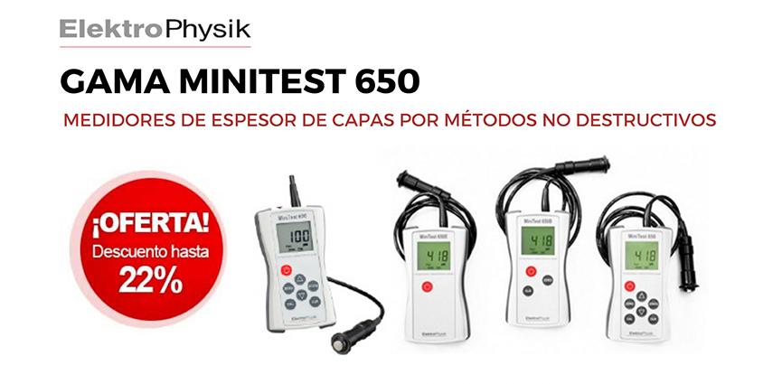 Lumaquin. Los equipos de la gama MiniTest 650 de ElektroPhysik, en promoción.