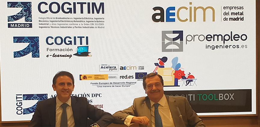 AECIM y el Colegio Oficial Graduados e Ingenieros Técnicos Industriales de Madrid (COGITIM) firman un convenio de colaboración para impulsar el sector industrial