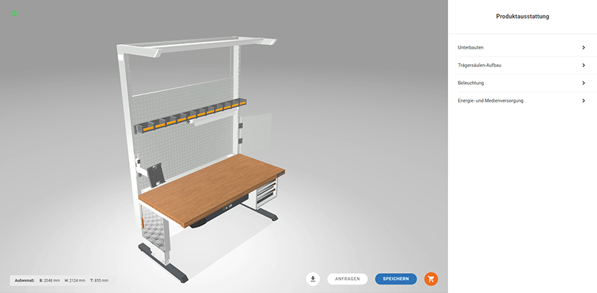 Hoffmann Group presenta un nuevo configurador online. Configuración personalizada de estaciones de trabajo