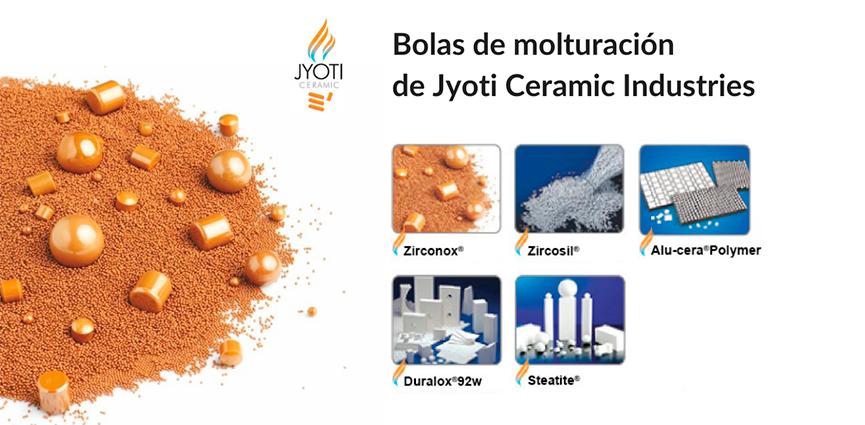 Jyoti presenta su amplia gama de bolas de molturación